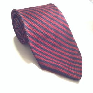 Brooks Brothers Makers All Silk Red Stripes Tie